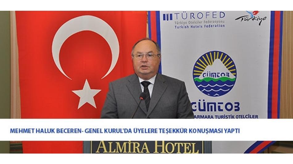 Mehmet Haluk BECEREN - Genel Kurul'da Üyelere Teşekkür Konuşması